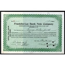Franklin-Lee Bank Note Co., Issued Stock.