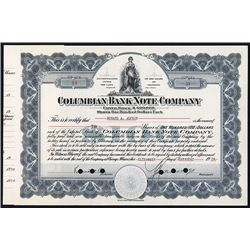Columbian Bank Note Co. Issued Stock.