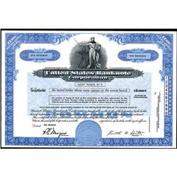 United States Banknote Corp. Specimen Stock Certificate.