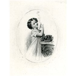 Young Woman Playing with Makeup, Possible G.F.C. Smillie Attribution, Charming.