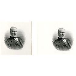 John H. Gear, Representative, Senator and Governor of Iowa, Possible G.F.C. Smillie Engraved Portrai