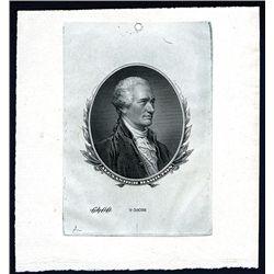 Alexander Hamilton Proof Vignette from ABN Archives.