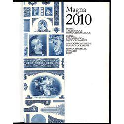 American Bank Note Company, Magna 2010 Monochromatic Intaglio Press Book.