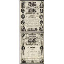 Rawdon, Wright, Hatch & Edson 1854 Dated Advertising Circular.
