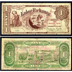 Colorado, 1897 Labor Exchange Certificate.