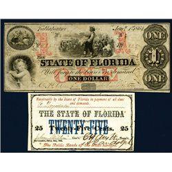 State of Florida Banknote Pair.