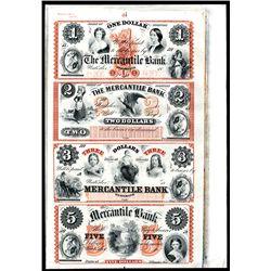 Mercantile Bank Uncut Proprietary Proof Sheet.
