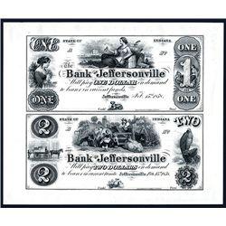 Bank of Jeffersonville Uncut Proprietary Proof Sheet of 2.