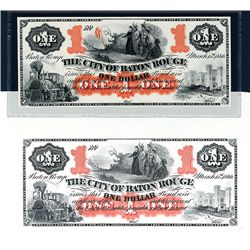 City of Baton Rouge 1866 (ca.1960-70's) Proprietary Proof and Error Note From Souvenir Card.