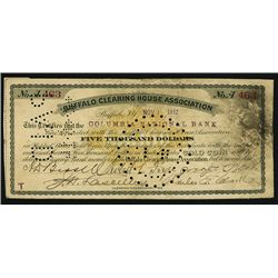 Buffalo Clearing House Association $5000 Banknote Pair.