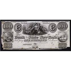 Bank of the State of New-York, ca.1830's Obsolete Impaired Proof.