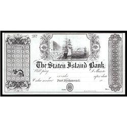 Staten Island Bank Post Note Proprietary Proof.