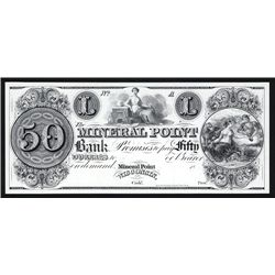 Mineral Point Bank $50 Proprietary Proof.