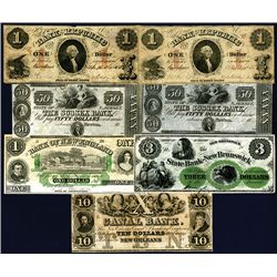 North-Eastern Obsolete Banknote Group of 7 notes
