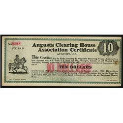 Augusta Clearing House Association Certificate.