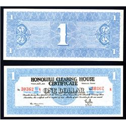 Hawaii, 1933 Honolulu Clearing House Certificate.