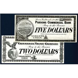 Kansas and Missouri 1907 Panic Currency Pair.