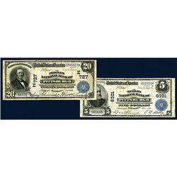 Pittsburgh, Pennsylvania National Banknote Pair.