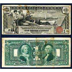 "U.S. Silver Certificate, Series of 1896 ""Educational"" Note."
