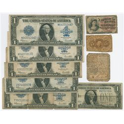 U.S. Banknote Assortment of 9 Notes.