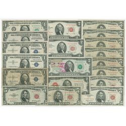 U.S. Banknote Assortment of 19 Notes.