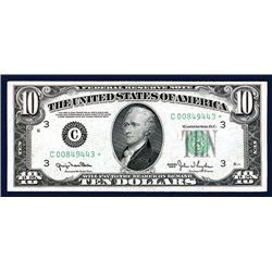 U.S. Federal Reserve Note, Philadelphia, PA, $10*, Series of 1950, Issued Star Banknote.