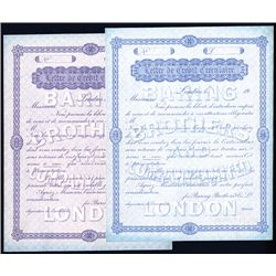 Baring Brothers and Co., 1900-1910, Skipper & East Specimen Circular Letter of Credits.