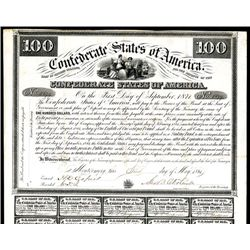 Confederate Bonds Lot of 2, Act of February 28, 1861.