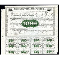 Confederate Bonds Lot of 5, Act of February 28 and Aug 19, 1861.