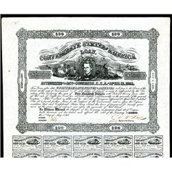 Confederate Bonds Lot of 4, Act of April 12, 1862.
