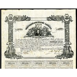 Confederate Bonds Lot of 6, Act of August 19, 1861.