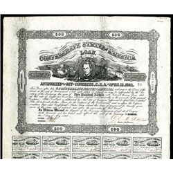 Confederate Bond, Act of April 12, 1862.