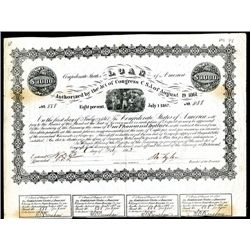 Confederate Bonds Lot of 4, Acts of August 19, 1861 & Feb 17, 1864.