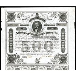 Confederate Bonds Lot of 5, Act of February 20, 1863.
