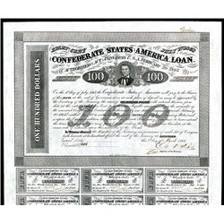 Confederate Bonds Lot of 6, Act of February 20, 1863.