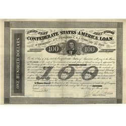 Confederate States of America, Issued Bonds Lot of 5.