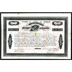 Confederate States, 1863, $2400, 8% Bond, B-211, Approved by Act of Feb 20, 1863, Black ornate borde