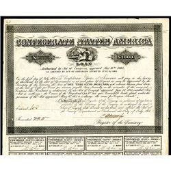 Confederate Bond, Act of June 13, 1864, $1000, B-384, Type 192, Unlisted With Apperson Signature.