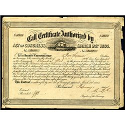 Confederate Bond, Act of March 23, 1863.