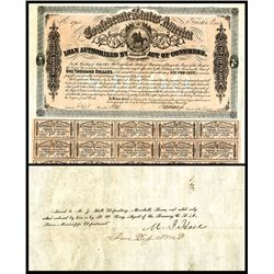 Confederate Bond, Act of February 17, 1864.
