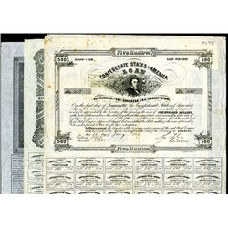 Confederate Bonds Lot of 3, Acts of August 19, 1861 & April 30, 1863.