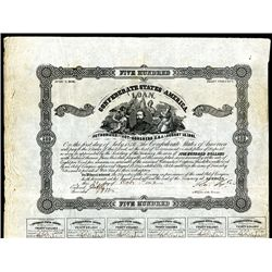 Confederate Bonds Lot of 4, Act of August 19, 1861.