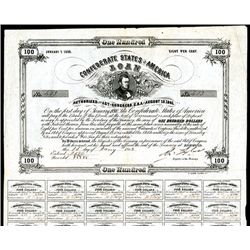 Confederate Bonds Lot of 5, Act of August 19, 1861.