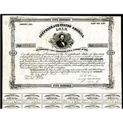 Confederate Bonds Lot of 7, Act of August 19, 1861.