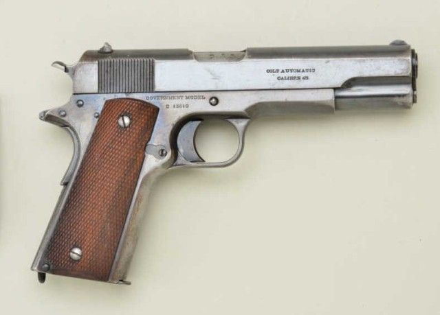 "Colt Government Model 1911 semi-auto pistol,  45 cal , 5"" barrel, blue"