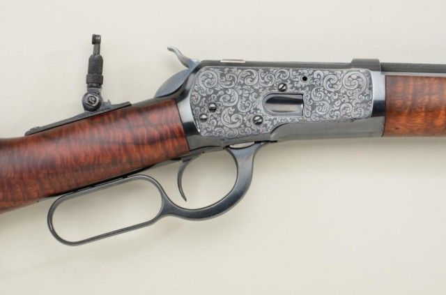 P O  Ackley customized Winchester Model 1892 lever action short
