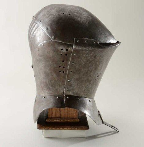 European Great Helm with frog's mouth style front circa 1470