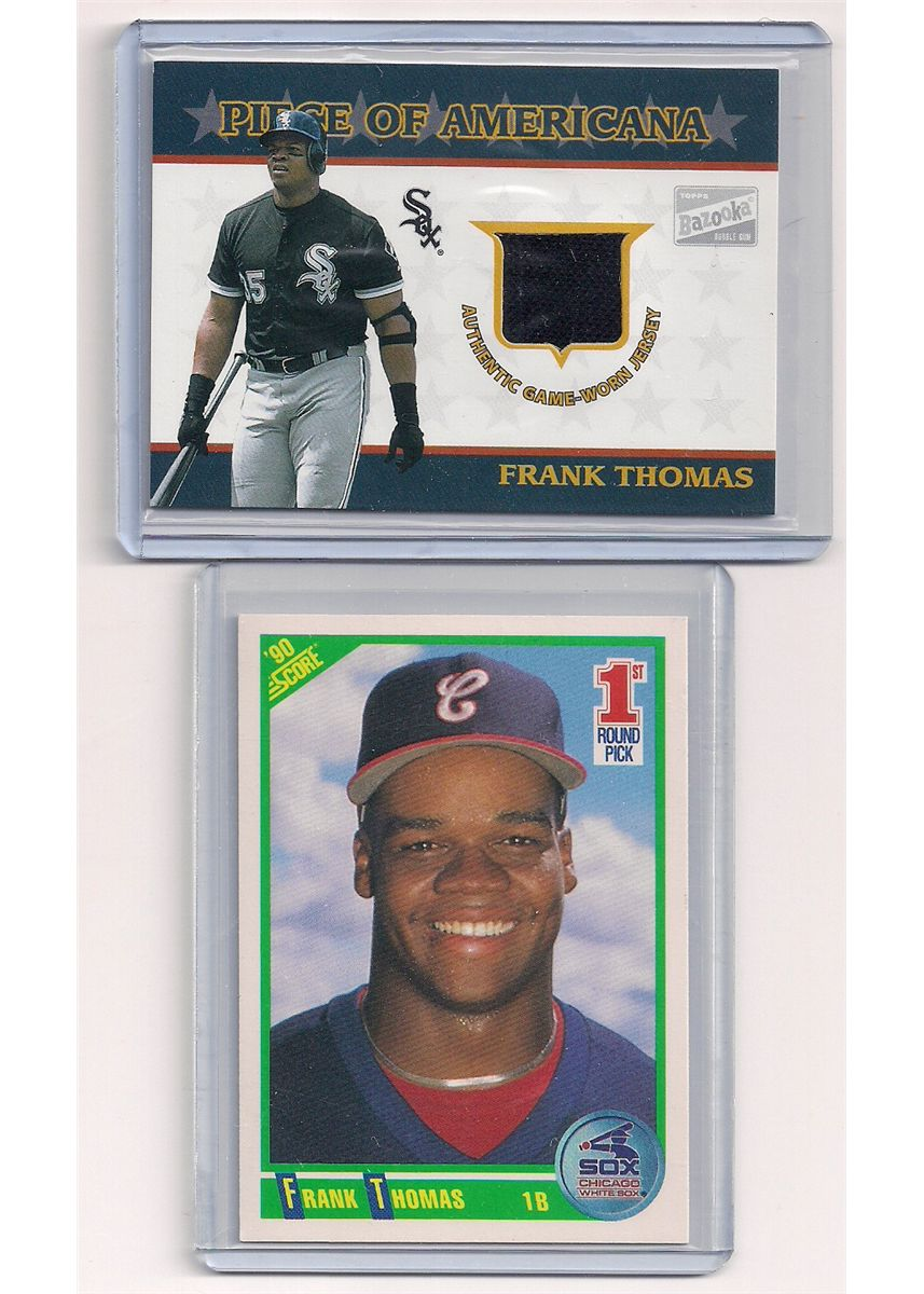 Frank Thomas Rookie Card Game Worn Jersey Card Lot