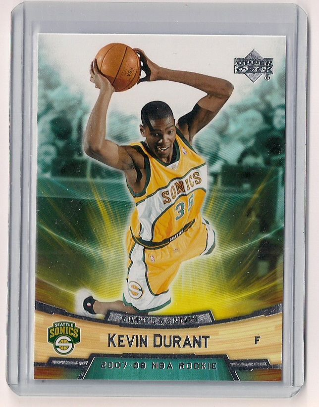 2007 08 Upper Deck Kevin Durant Rookie Card 11