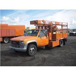 1999 GMC 3500 HDSL S/A Utility Boom Truck